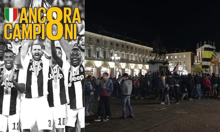 Juve campione d'Italia, ma Piazza San Carlo è quasi deserta