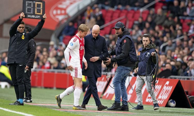 Verso Juve-Ajax, de Jong è convocato. L'agente: 'Sta bene, domani può giocare'