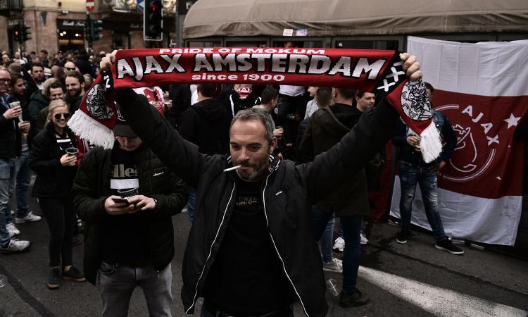 Juve-Ajax, tensione tra tifosi olandesi e polizia