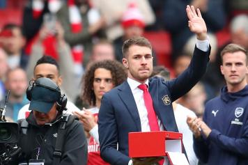 best service 580a7 d4b60 Aaron Ramsey: Welsh midfielder given number 8 shirt at ...