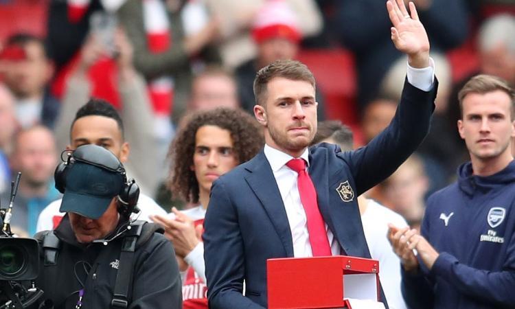 Juve, ultimo giorno di Ramsey al centro di allenamento dell'Arsenal