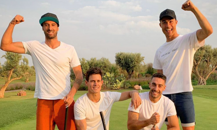 Juve, Ronaldo torna a Madrid... per giocare a golf FOTO