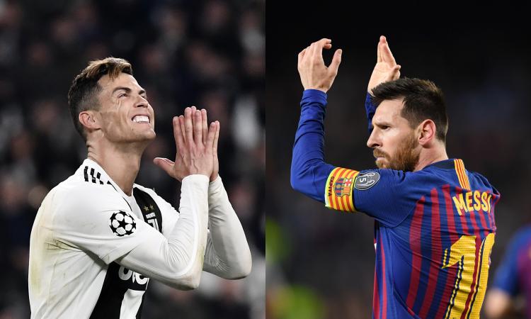 Ronaldo-Messi, fine di un'epoca: dopo il Pallone d'Oro adesso anche in Champions
