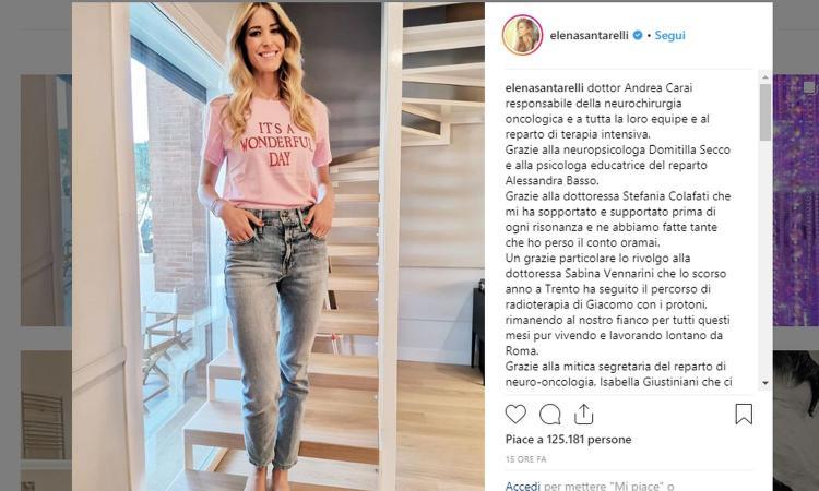 Elena Santarelli: 'Mio figlio Giacomo ha sconfitto il tumore'. La gioia della showgirl e di Bernardo Corradi