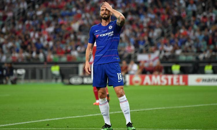 Giroud sbotta: 'Via dal Chelsea? Non voglio accontentarmi. Potrei lasciare come all'Arsenal'