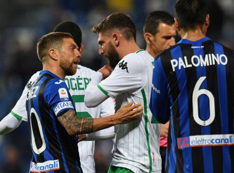 Champions e salvezza, MOVIOLA: proteste per gol Zapata, rosso a Berardi e Keita, annullato gol Brozovic
