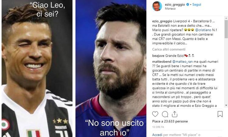 Barcellona e Messi salutano la Champions, Ezio Greggio punzecchia Balotelli: 'Cosa dicevi Mario?'