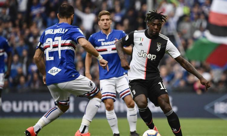 Sampdoria-Juventus, le pagelle di CM: spiccano Praet e Kean, male Rugani e Dybala