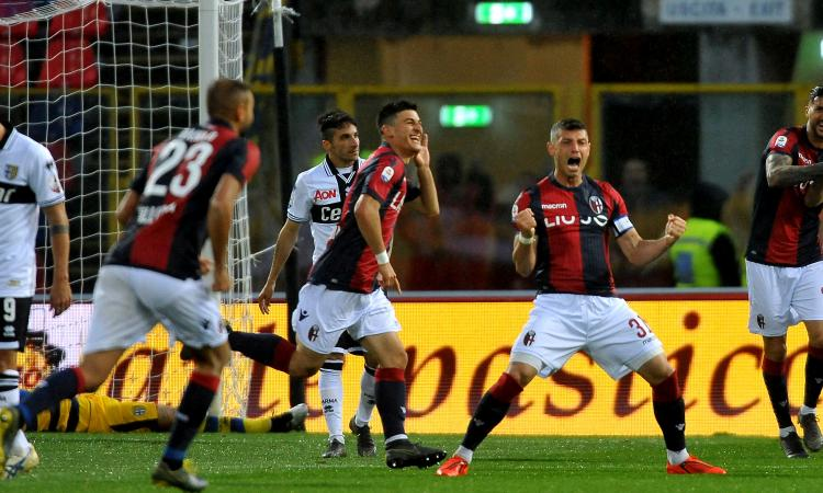 Bologna-Parma 4-1: il tabellino