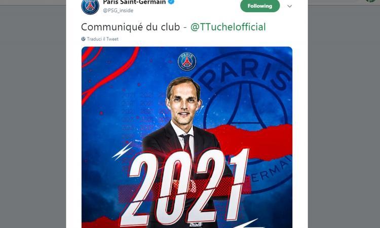 PSG, no ad Allegri. UFFICIALE: Tuchel rinnova fino al 2021