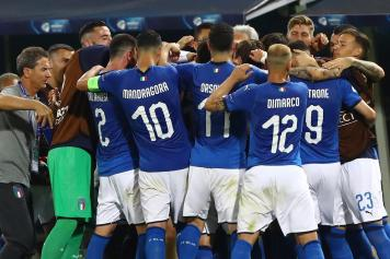 Italia gruppo esultanza