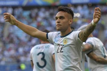 Lautaro.Martinez.Argentina.gol.esultanza.2018.19.jpg GETTY IMAGES