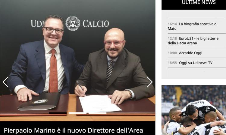Udinese, Marino: 'Riporteremo la squadra dove merita. Costruiremo i nuovi Quagliarella e Di Natale, Tudor...'