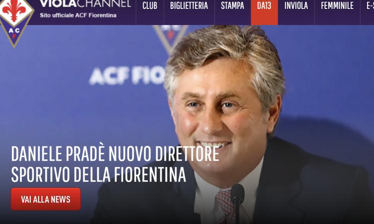 Fiorentina, UFFICIALE: torna Pradè, è il nuovo direttore sportivo
