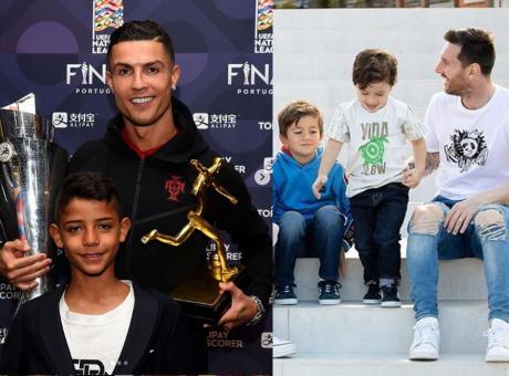 I figli di Ronaldo, Messi, Del Piero e Buffon: il destino scritto nel nome. Dove giocano, chi tifano, cosa faranno