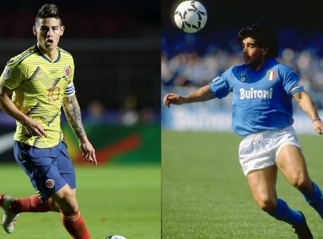 Napoli, l'idea di Ancelotti: la 10 di Maradona a James Rodriguez? VOTA