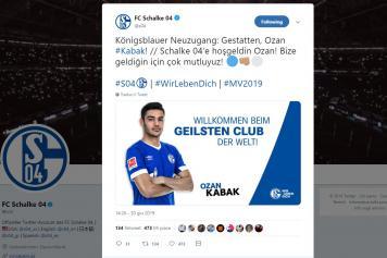 kabak, schalke, ufficiale, twitter, 2019