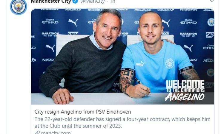 Manchester City, UFFICIALE: torna Angelino