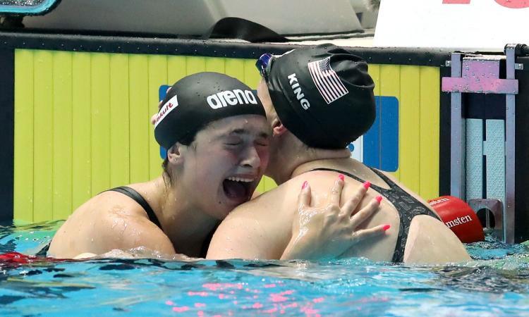 4b6f6a90d843 Mondiali di nuoto, la Pilato argento nei 50 rana a 14 anni. Paltrinieri  bronzo nei 1500