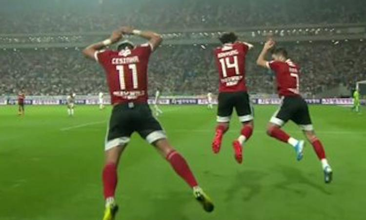Cesinha… come Cristiano Ronaldo: segna alla Juve ed esulta alla CR7 VIDEO