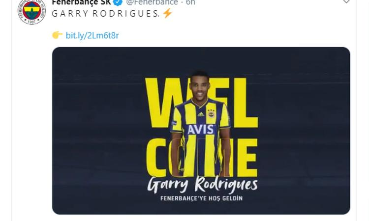 Fenerbahce, UFFICIALE: arriva Garry Rodrigues