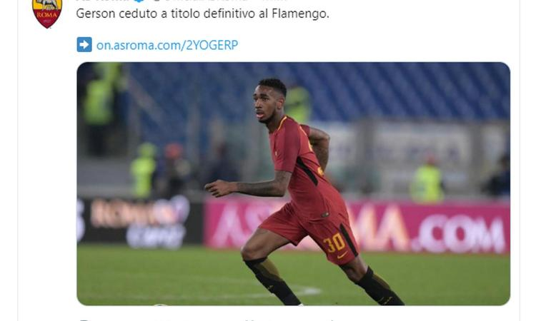Roma, UFFICIALE: Gerson al Flamengo. Le cifre dell'operazione