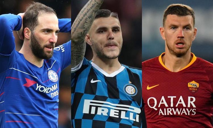 Icardi alla Juve, Higuain alla Roma, Dzeko all'Inter: chi ci rimette e chi ci guadagna