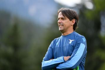 Inzaghi braccia conserte Lazio