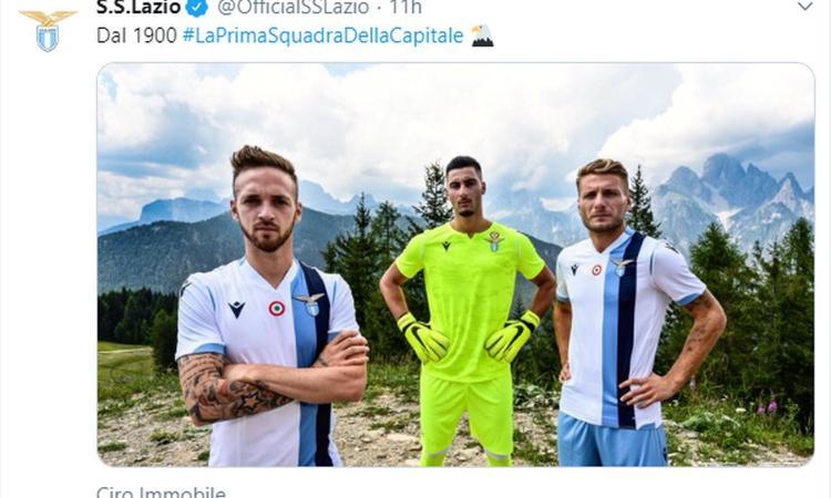 Lazio, presentata la nuova seconda maglia FOTO