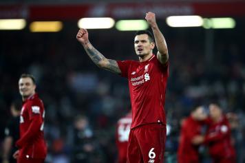 Lovren esultanza pugni Liverpool