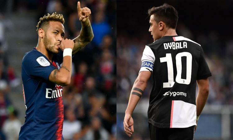 Juve, intrigo Dybala: può essere l'erede di Neymar al PSG, ma l'Inter non molla