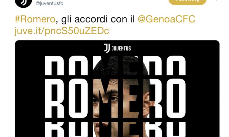 UFFICIALE: Romero è della Juve per 26 milioni, i dettagli dell'affare col Genoa