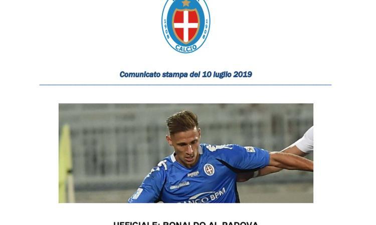 Padova, UFFICIALE: arriva Ronaldo dal Novara