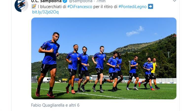 Sampdoria, i convocati per il ritiro: c'è Praet