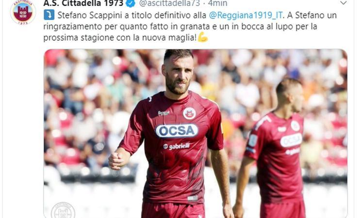 Cittadella, UFFICIALE: Scappini in Serie C