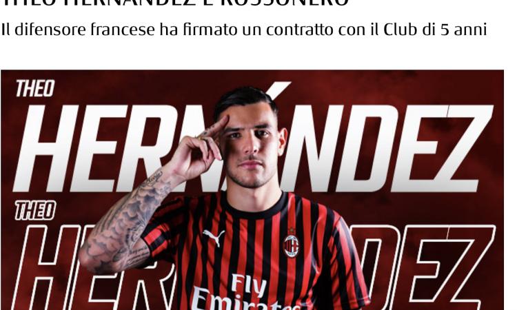 Milan, svelati i numeri di maglia di Krunic e Theo Hernandez
