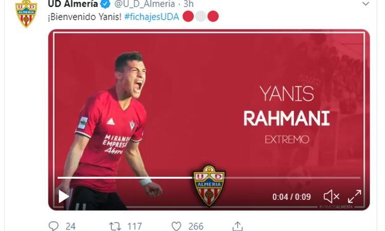 Almeria, UFFICIALE: arriva Rahmani