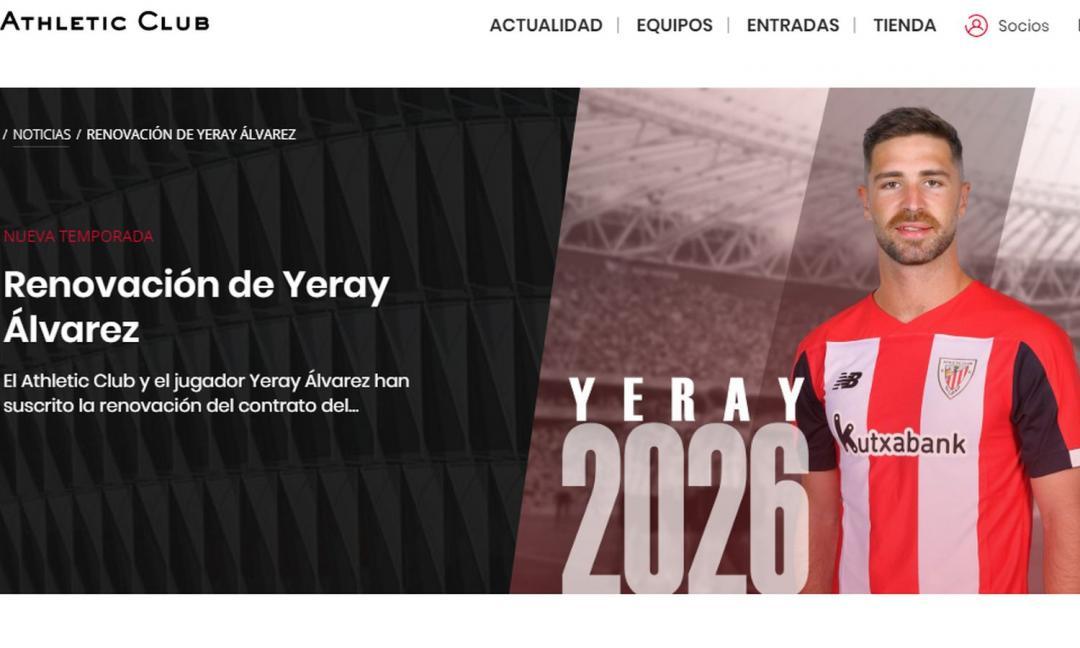 Le belle storie del calcio: Yeray firma fino al 2026