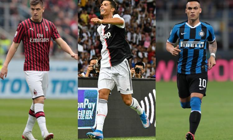 Il Milan guarda al passato, la Juve al futuro, l'Inter azzarda: ecco tutte le maglie della Serie A 2019/20!