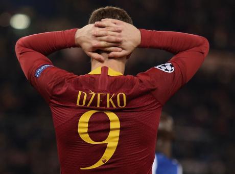 Dzeko è l'attaccante che Conte non ha. Due gol con la Roma, aspettando l'Inter
