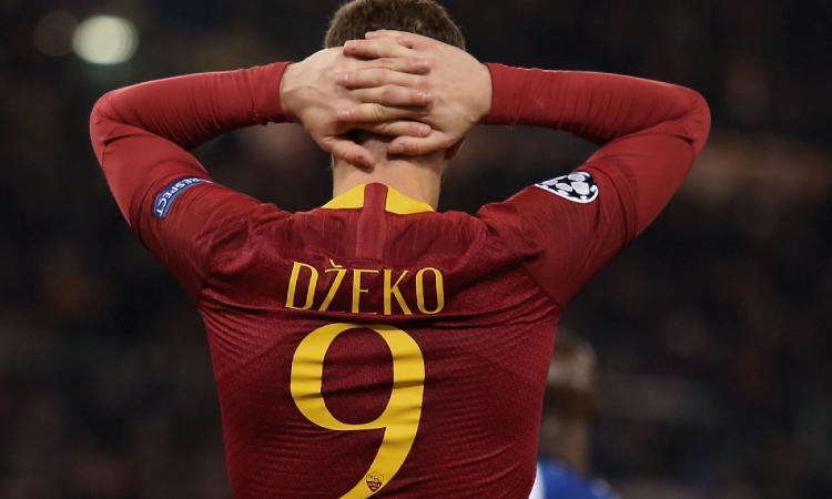 Roma, senza Dzeko l'attacco piange: i numeri