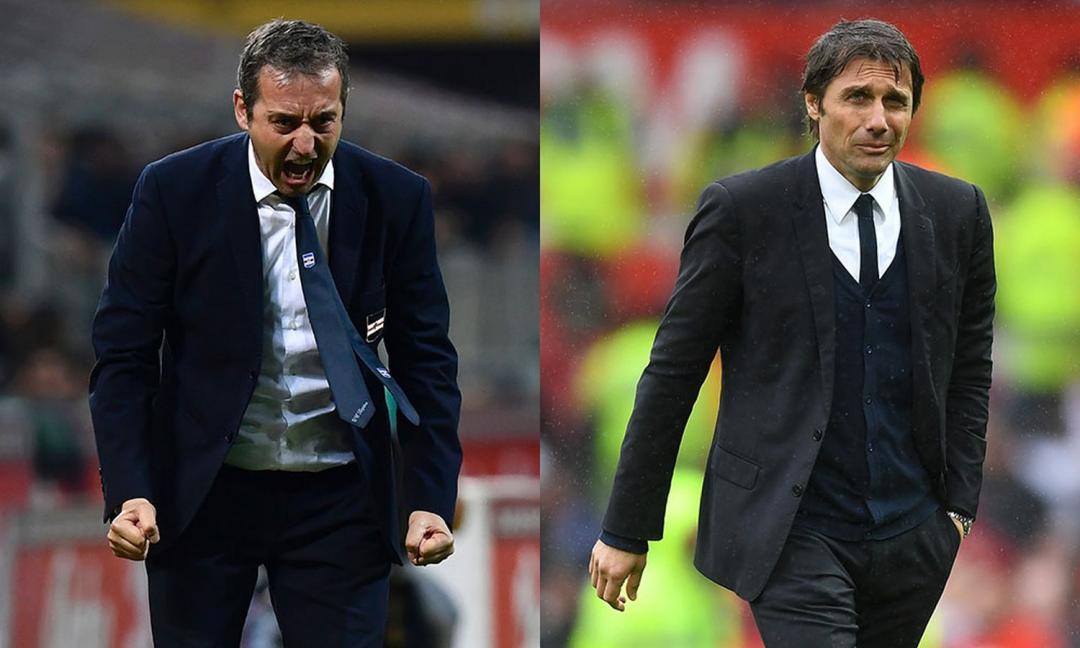 """Giampaolo vs Conte: """"Re Bianco contro Re Nero"""""""