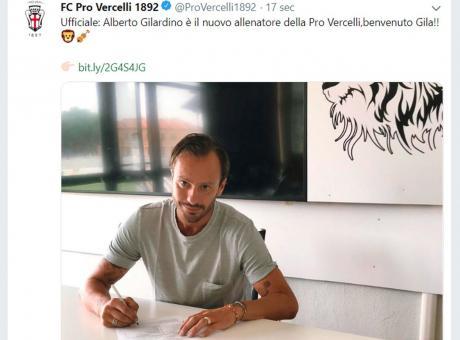 Pro Vercelli, Gilardino: 'Non vedo l'ora di cominciare. Potevo tornare al Parma ma...'