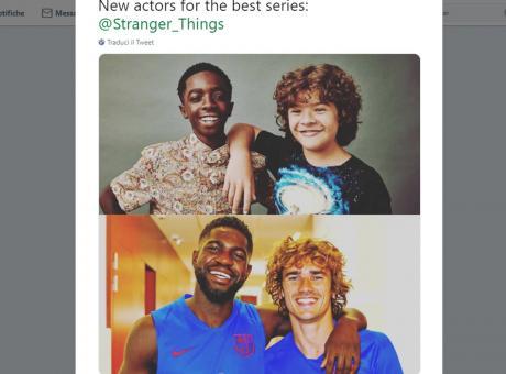 Griezmann e Umtiti come Dustin e Lucas di Stranger Things FOTO