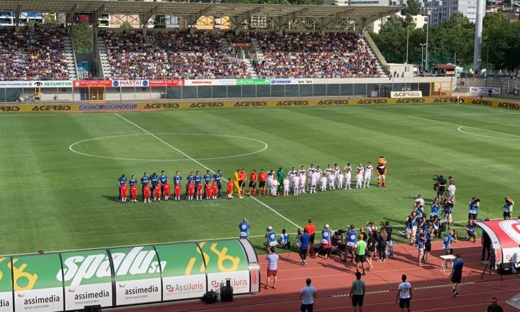 Conte, buona la prima: 2-1 Inter al Lugano, Sensi e Perisic sugli scudi. Cori contro Icardi