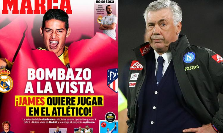 Clamoroso dalla Spagna: no al Napoli, James vuole l'Atletico Madrid