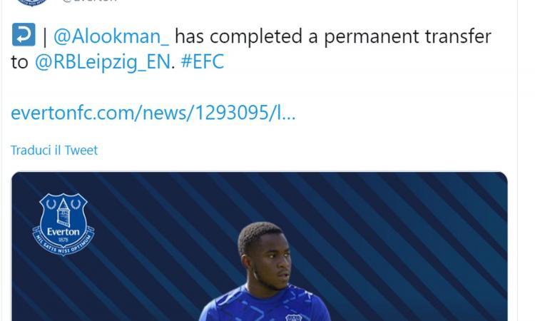 Everton, UFFICIALE: Lookman è dell'RB Lipsia