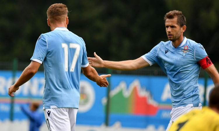 Lazio, allenamento tecnico: ancora differenziato per Lulic. Acerbi e Leiva ok