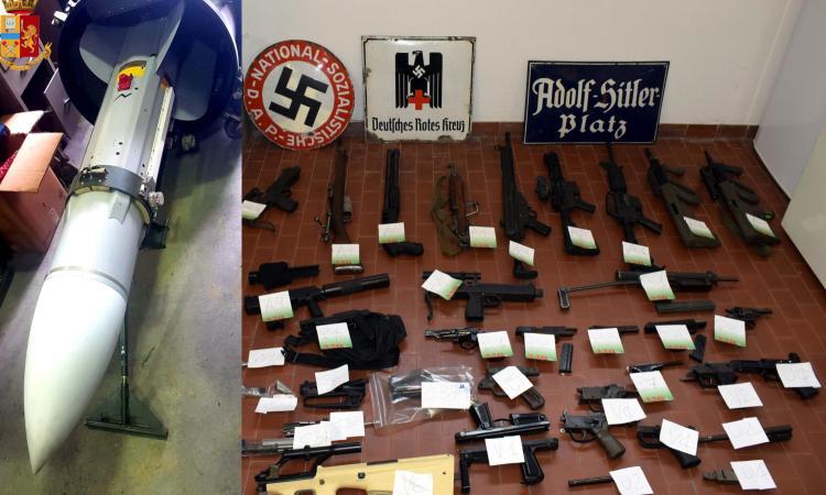 Sequestrati fucili e un missile a gruppi neofascisti, legami con gli ultras della Juve