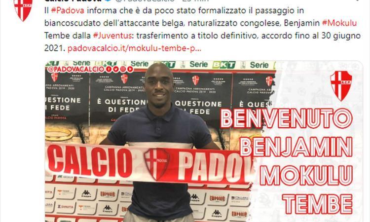 Juve Under 23, UFFICIALE: ceduto Mokulu al Padova